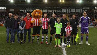 Ruddlesden geotechnical were matchball sponsors at Exeter City!