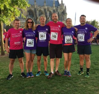 Team Ruddlesden at the Michelmores 5k Charity Run